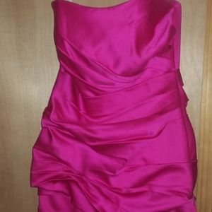 Size 8 fuchsia bride's maid dress